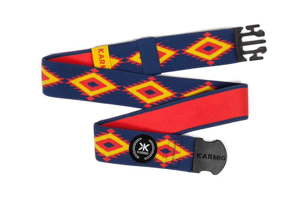 Los detalles del cinturón deportivo The Aztec